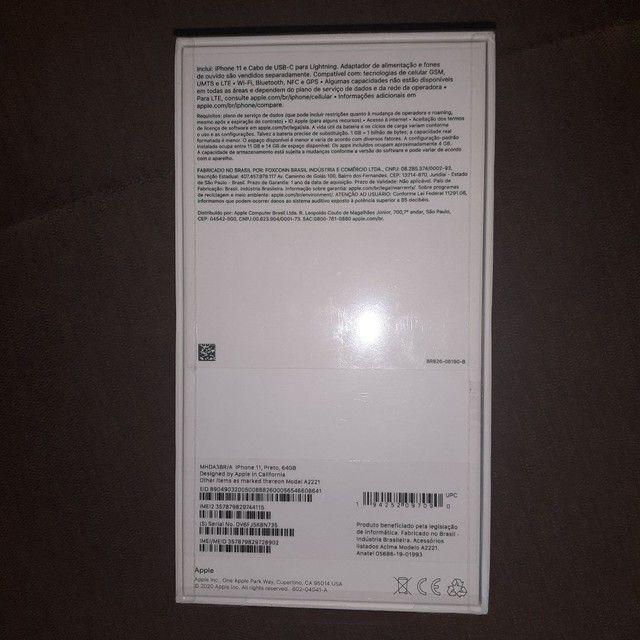 Iphone 11 64gb novo lacrado com Nota fiscal e Garantia de 1 ano - Foto 2