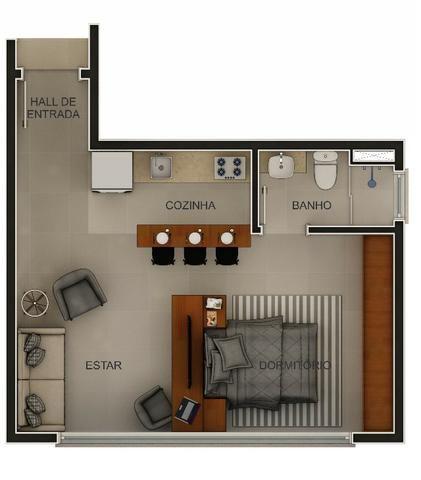 Studio(s) e Loft(s) no Centro - Orion Residence - Entrega Julho/21 - Foto 4