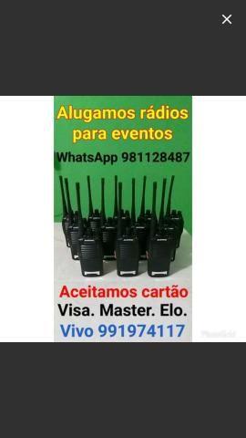 Rádios pra aluguel
