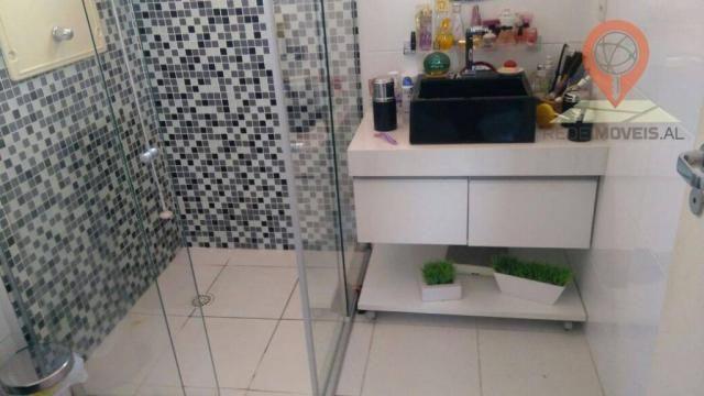 Apartamento com 2 dormitórios à venda, 110 m² por R$ 550.000 - Jatiúca - Maceió/AL - Foto 6