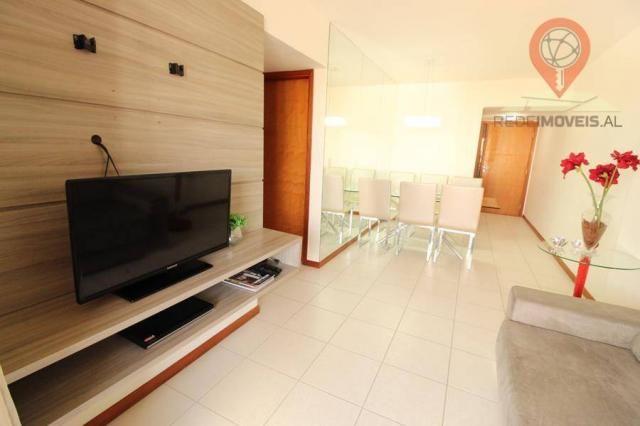 Apartamento com 2 dormitórios à venda, 65 m² por R$ 350.000 - Jatiúca - Maceió/AL