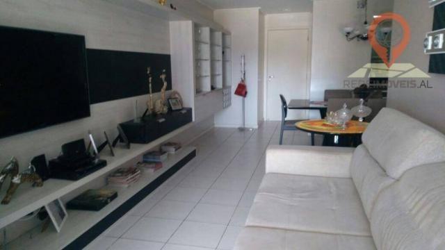Apartamento com 2 dormitórios à venda, 110 m² por R$ 550.000 - Jatiúca - Maceió/AL - Foto 4