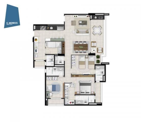 Marzzano, 2 ou 3 suítes, 2 vagas, 88, 100 e 117 m²  à venda, a partir de R$ 535.000 - Duna - Foto 13
