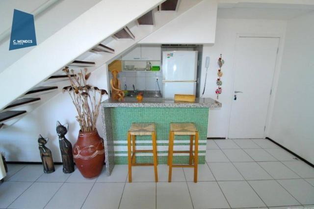 Apartamento Duplex para alugar, 130 m² por R$ 4.000,00/mês - Mucuripe - Fortaleza/CE - Foto 19