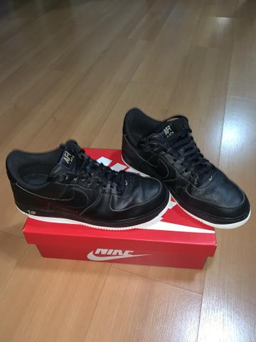 Tenis Nike Air Force AF-1 82 Preto Couro Parcelo