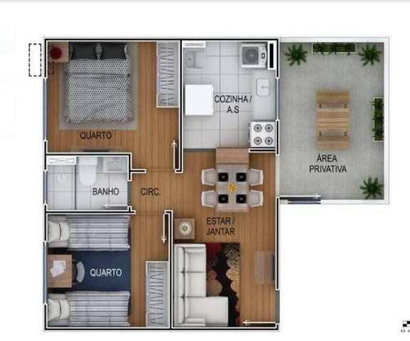 Costa Laguna Aptos 2 Dorms 40,82 a 45,30 1 Vaga, Com Lazer - Foto 2