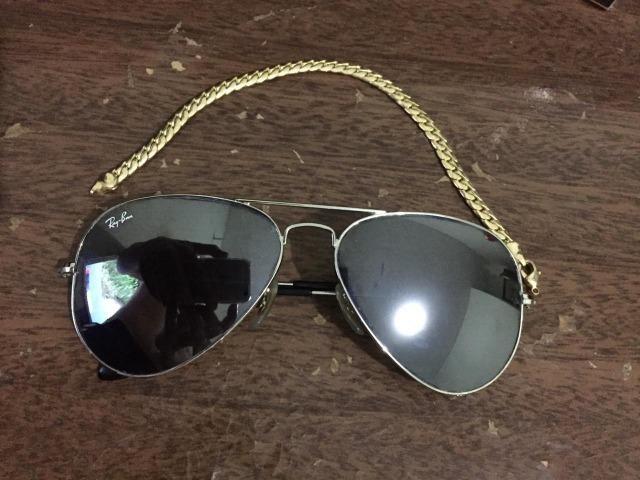 3103d7ec9d8d4 Oculos Ray Ban Aviador Masculino Prata Espelhado - Bijouterias ...