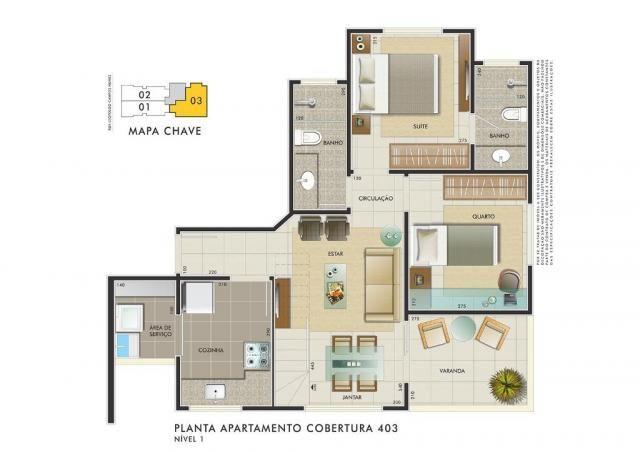 Apartamento com 3 dormitórios à venda, 112 m² por R$ 350.000 - Manacás - Belo Horizonte/MG - Foto 10