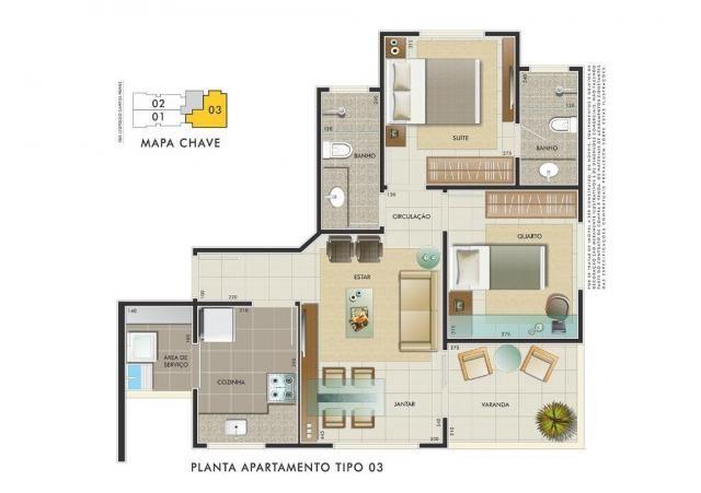 Apartamento com 3 dormitórios à venda, 112 m² por R$ 350.000 - Manacás - Belo Horizonte/MG - Foto 14