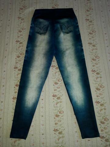 Calça Legging Cintura Alta Imita Jeans - Foto 5