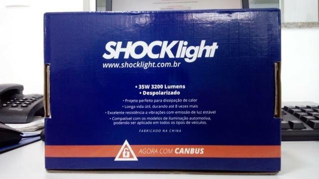 Lampada super Led 2D Headlight H8 6000K 12V / 24V 35W 6400lumens Carro, Moto, Caminhão - Foto 2