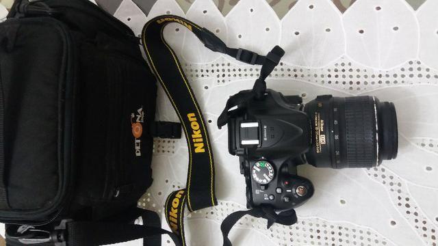 Nikon D5200 + bateria extra + cartão memória + bolsa + lente 18-55mm - Foto 5