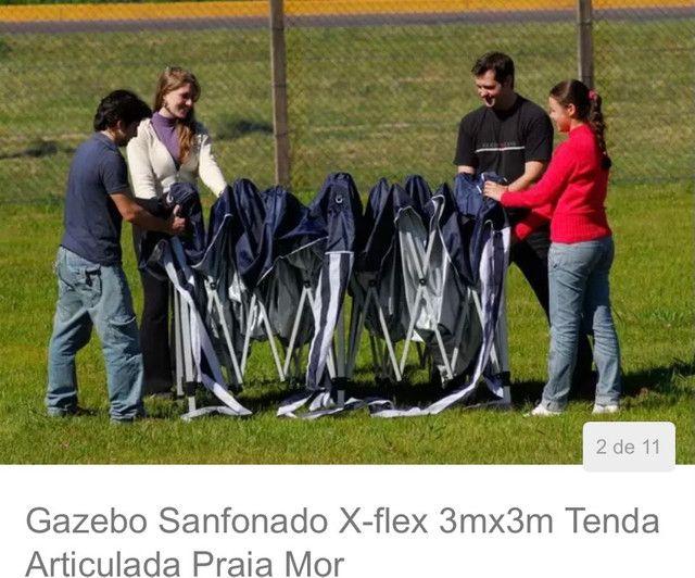 Tenda gazebo sanfonado x-flex 3mx3m - Foto 2