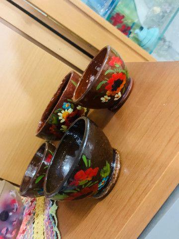 Conj de fundy barro pintado à mão  - Foto 2
