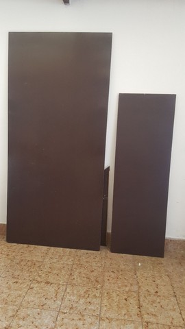 Mesa L de madeira