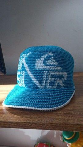 Boné crochê azul Quiksilver. Artesanal  - Foto 2