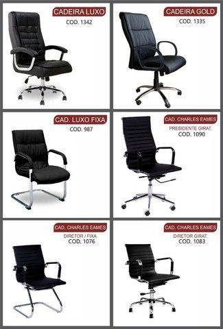 cadeiras para escritorio ofertas queima de estoque  - Foto 3