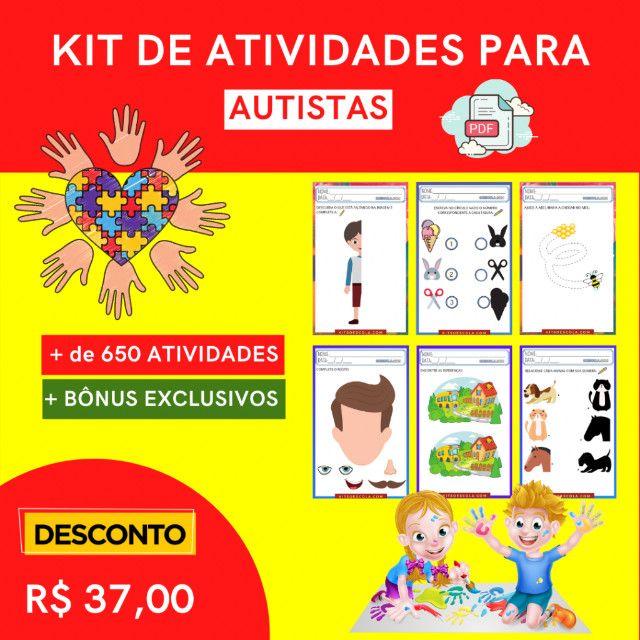 """.:: Kit de Atividades Alfabetização Infantil """"Autismo"""" :: - Foto 6"""