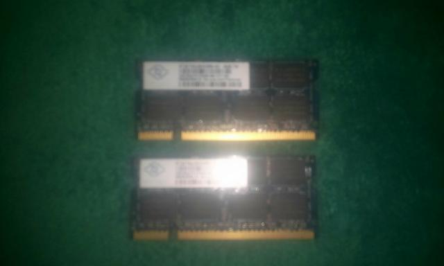 Memorias ddr3 notebooks