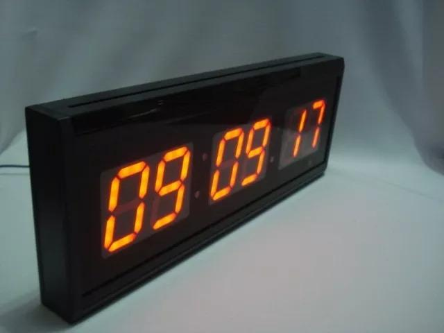 c03ccb2c18d Relógio Cronômetro Digital Grande Parede Led Controle Bivolt ...