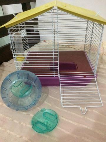 Gaiola para hamster + balinha de passeio!!
