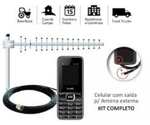 Antena Aquárius para ampliar o sinal do celular ou telefone fixo residencial ou móvel