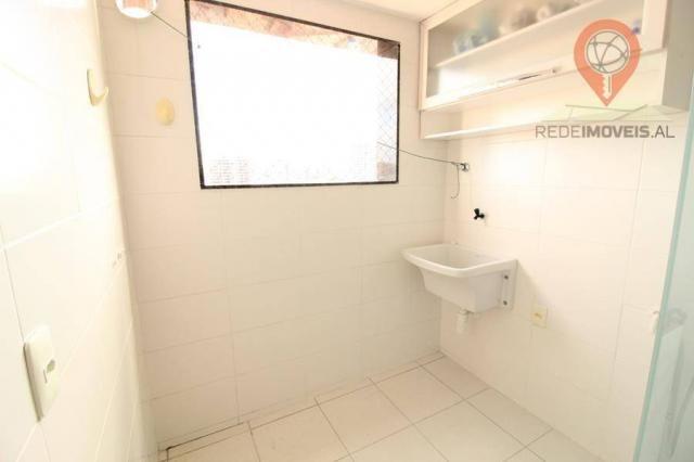 Apartamento com 2 dormitórios à venda, 65 m² por R$ 350.000 - Jatiúca - Maceió/AL - Foto 14