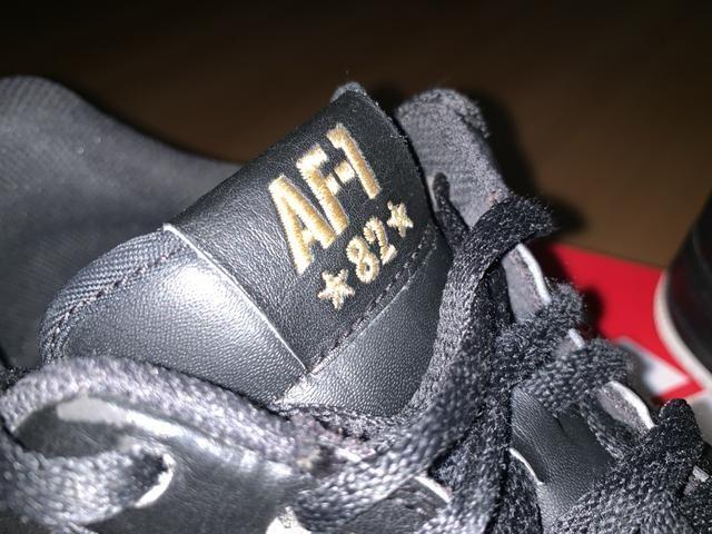 Tenis Nike Air Force AF-1 82 Preto Couro Parcelo - Foto 5