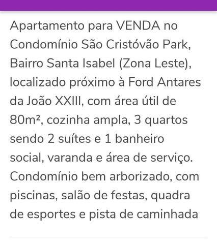Apartamento São Cristóvão Park, Santa Izabel, Zona Leste - Foto 2
