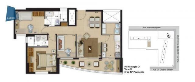 Apartamento com 3 dormitórios à venda, 71 m² por R$ 455.000,00 - Cocó - Fortaleza/CE - Foto 19