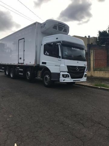 Câmara frigorifica para truck e bi truck 9 metros com equipamento disel - Foto 4