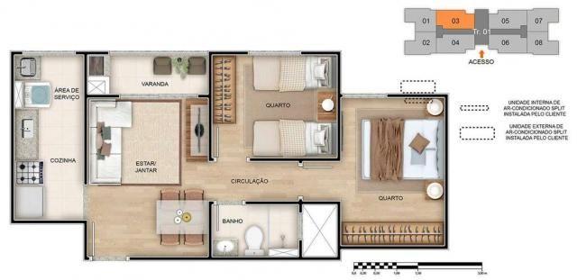Spazio Montecarlo - Apartamento de 2 quartos na Região do Jardim América, Maringá - PR - I - Foto 16