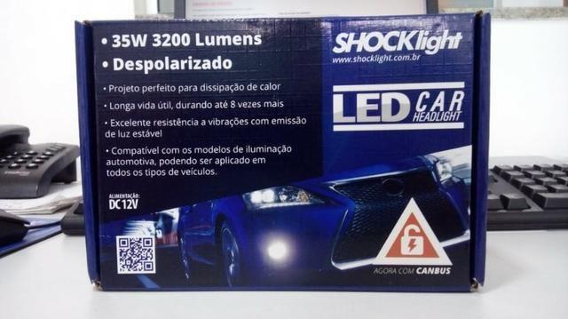 Lampada super Led 2D Headlight H8 6000K 12V / 24V 35W 6400lumens Carro, Moto, Caminhão