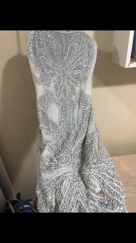 Vestido curto azul bobô - Foto 6