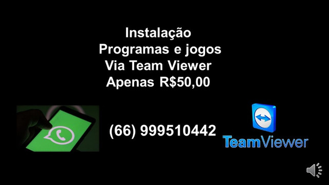 Programas e Jogos Via Team Viewer
