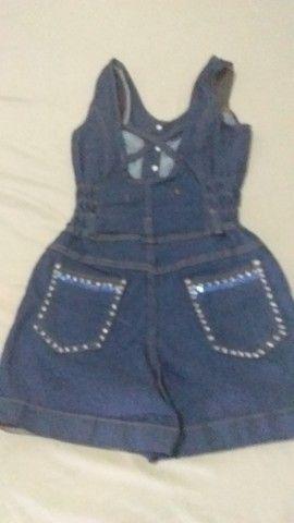 Jaqueta Jeans Personalizada e Macaquito Jeans Personalizado - Foto 4