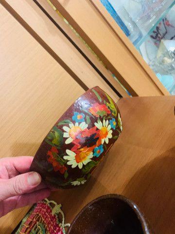 Conj de fundy barro pintado à mão  - Foto 6
