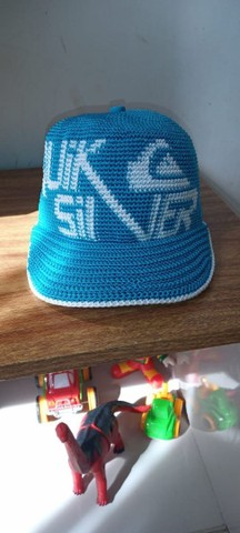 Boné crochê azul Quiksilver. Artesanal  - Foto 4