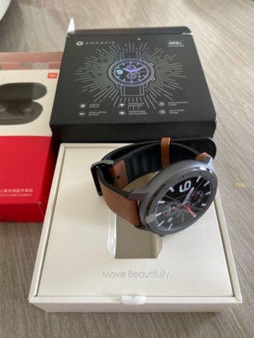 Relógio Amazfit GTR 47mm GPS + fone redmi airdots 2 Xiaomi, Ambos novos na Cx,originais - Foto 6