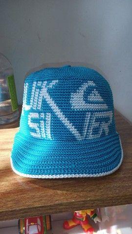 Boné crochê azul Quiksilver. Artesanal  - Foto 3