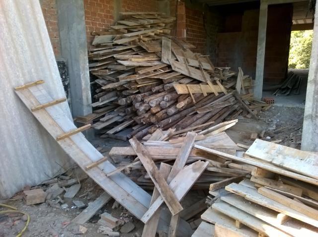 Sobras de construçao