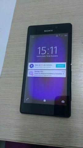 Celular Sony Xperia modelo m2 8.GB baixei o preço