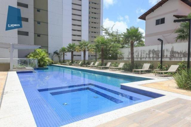 Apartamento com 3 dormitórios à venda, 71 m² por R$ 455.000,00 - Cocó - Fortaleza/CE - Foto 2