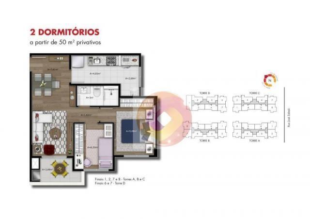 Apartamento com 2 dormitórios à venda, 51 m² por R$ 240.000,00 - Neoville - Curitiba/PR - Foto 10
