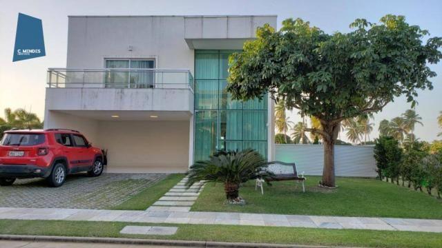 Casa no Alphaville Fortaleza com 4 dormitórios à venda, 310 m² por R$ 1.800.000 - Cararu -