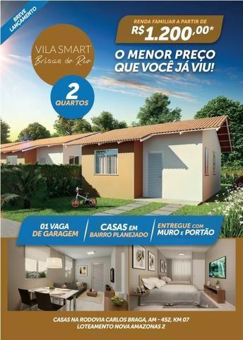 Vendo Linda Casa com 02 Quartos no Vila Smart Brisas do Rio - Foto 3