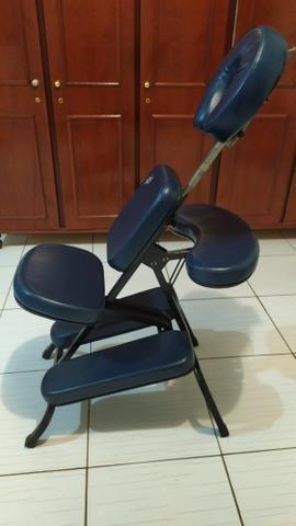 Cadeira quick massage + vapor de ozônio + kit pedras para massagem