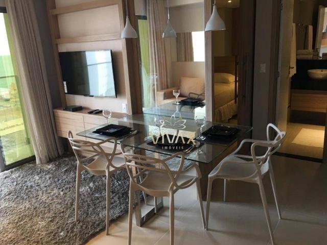 Flat com 1 dormitório à venda, 43 m² por R$ 360.000 - Ponta Negra - Natal/RN - Foto 3