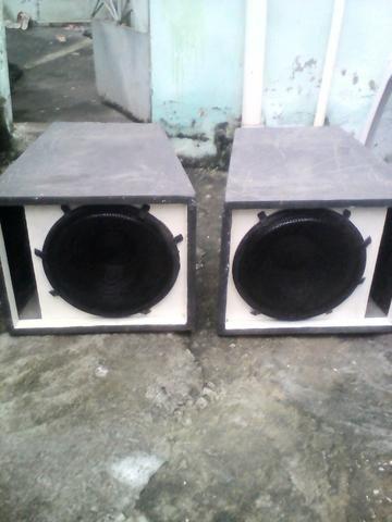 Par de caixas de som meia sb + alto falantes 1000 RMS + grande