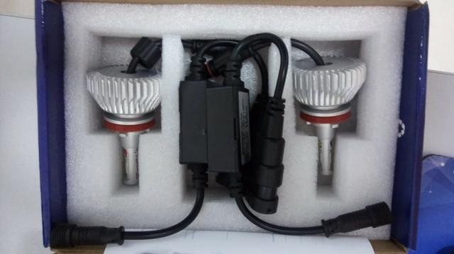 Lampada super Led 2D Headlight H8 6000K 12V / 24V 35W 6400lumens Carro, Moto, Caminhão - Foto 3